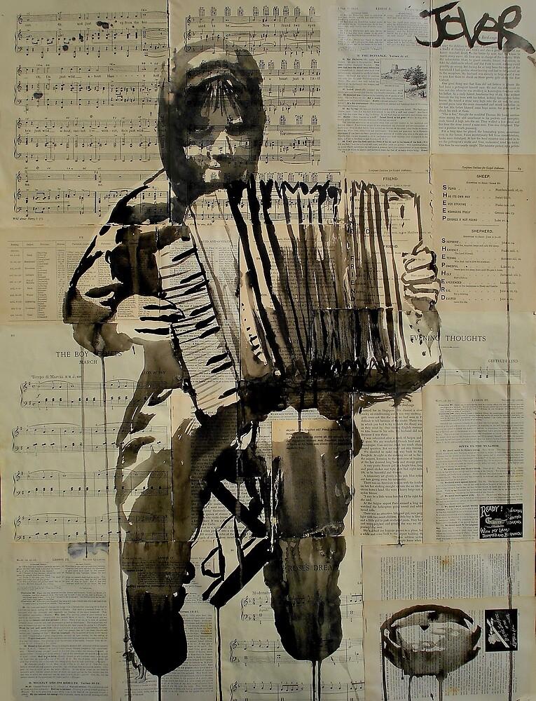 the little busker by Loui  Jover