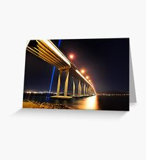 Tasman Bridge Dark MoFo spectra lights  Greeting Card