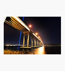 Tasman Bridge Dark MoFo spectra lights  Photographic Print