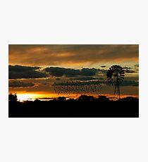 Hay Sunset Photographic Print