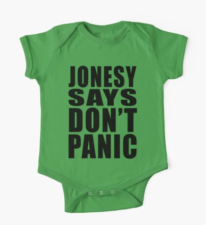 Jonesy says Don't Panic Kids Clothes