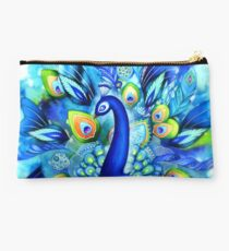 Peacock in Full Bloom Studio Pouch
