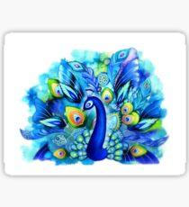Peacock in Full Bloom Sticker