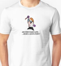 Dexter takes life... in his laboratory Unisex T-Shirt