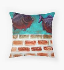Piranha Throw Pillow
