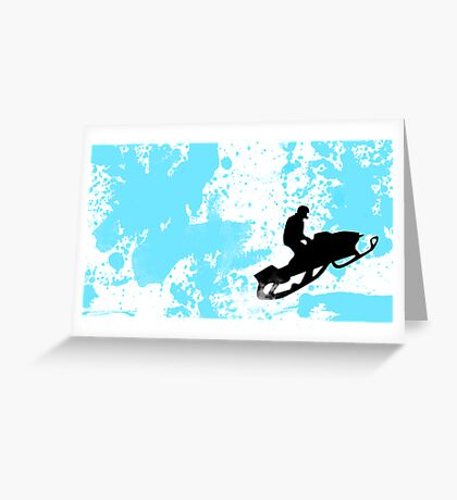 snowmobile : powder trail Greeting Card