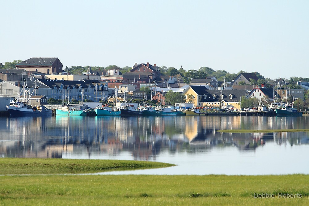 Yarmouth Harbourfront in June by Debbie  Roberts