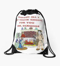 Ghostbusters Christmas Carol Drawstring Bag