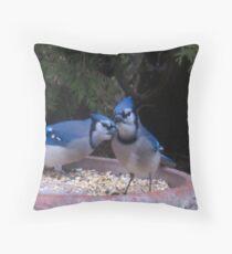 Blue Jays away Throw Pillow