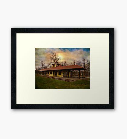 Napanoch NY Railway Station Framed Print