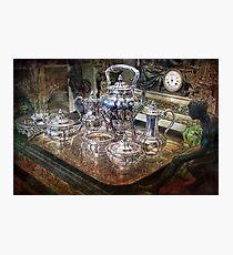 Lámina fotográfica Antique Tiffany Sterling Silver Coffee Tea set