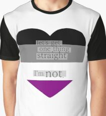 Let's get one thing straight, I'm not - Asexual heart flag Graphic T-Shirt