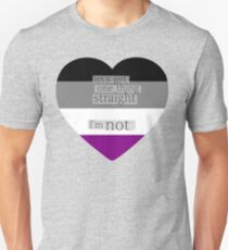 Let's get one thing straight, I'm not - Asexual heart flag Unisex T-Shirt