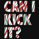 Can I Kick It? (white) by DaviesBabies