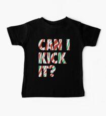 Camiseta para bebés ¿Puedo patearlo? (blanco)
