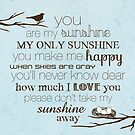 You Are My Sunshine – Nest – 2:3 – Blue  by Janelle Wourms