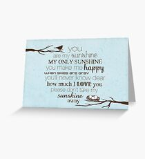 You Are My Sunshine – Nest – 2:3 – Blue  Greeting Card