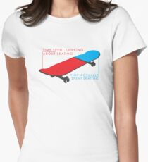 Skateboard infographic Women's Fitted T-Shirt