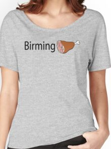 Birmingham Black text Women's Relaxed Fit T-Shirt