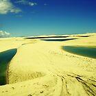 3 Lakes on Yellow Dunes - Jericoacoara, Brazil by ibadishi