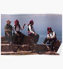 Local Men Taquile Poster