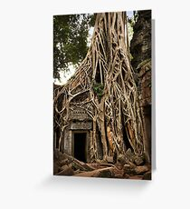 Cambodia - Angkor - Ta Prohm  #06 ... location for film Tomb Raider Greeting Card