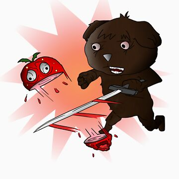 Bear Slicing Strawberry! Poster by StrawbearyVlogs