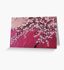 Pink cherry blossom tree - Japanese - card phone cover / case Greeting Card