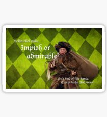 Belsnickel - Dwight at Christmas Sticker