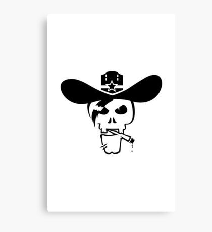 Skull of the Sheriff VRS2 Canvas Print