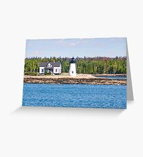 Lighthouse along Maine Coast in New England Greeting Card