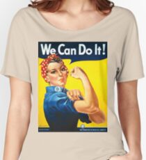 Vintage poster - Rosie the Riveter Women's Relaxed Fit T-Shirt