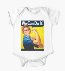 Vintage poster - Rosie the Riveter One Piece - Short Sleeve