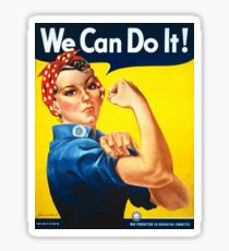 Vintage poster - Rosie the Riveter Sticker