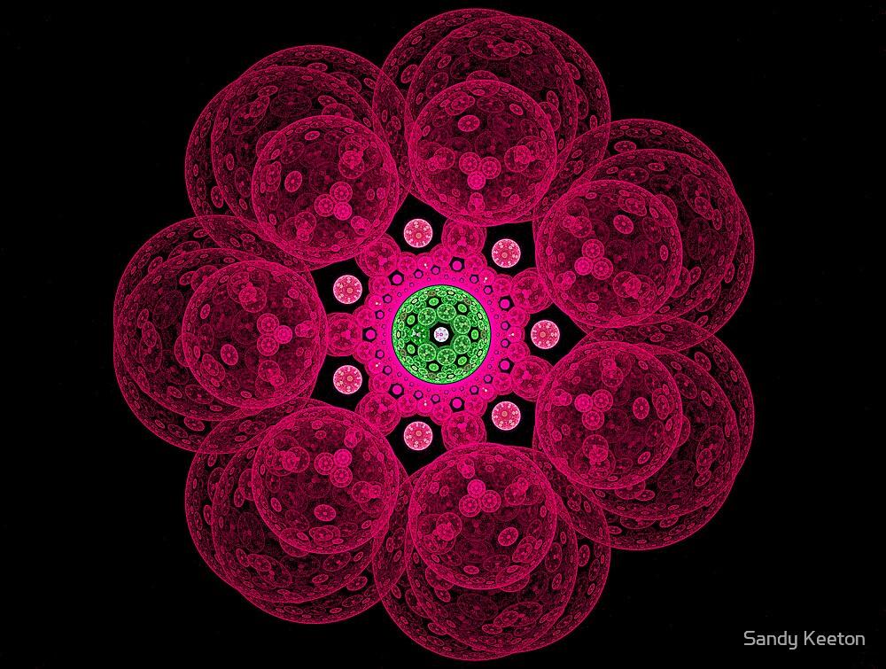 Pink Bubbles by Sandy Keeton