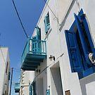 street nisyros greece by H J Field