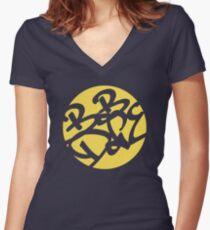 Bob Dope (Circle logo) Women's Fitted V-Neck T-Shirt