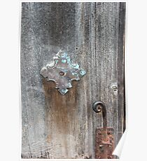 San Juan Door Detail with Latch Poster