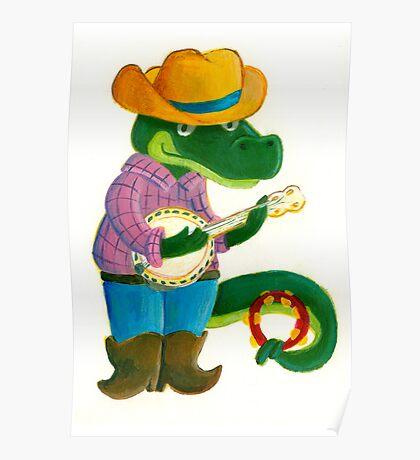 The Banjo Alligator Poster