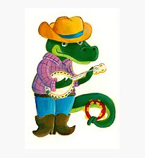 The Banjo Alligator Photographic Print