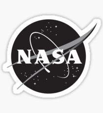NASA Black (with white border) Sticker