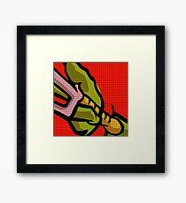 Lichtenstein Pop Martial Art Quelonians | Red Framed Print