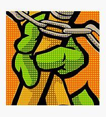 Lichtenstein Pop Martial Art Quelonians   Orange Photographic Print