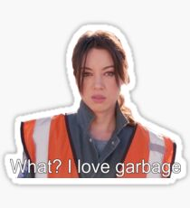 April Loves Garbage Sticker