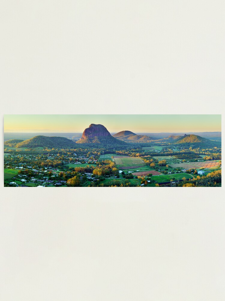 Alternate view of Glasshouse Mountains, Queensland, Australia Photographic Print