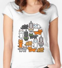 Super Kitten Pile (Just Cats) Women's Fitted Scoop T-Shirt