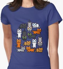 Super Kitten Pile (Just Cats) Women's Fitted T-Shirt
