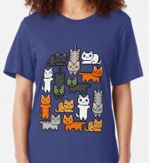Super Kitten Pile (Juste des chats) T-shirt ajusté