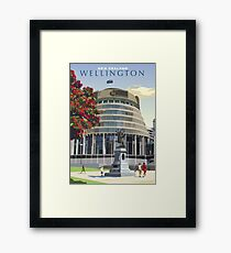 Beehive, Wellington New Zealand Framed Print