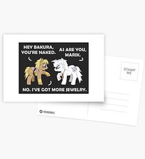 Marik and Bakura Ponies Postcards